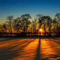 Buy canvas prints of Sunset on snow Kinross by Adrian Maricic