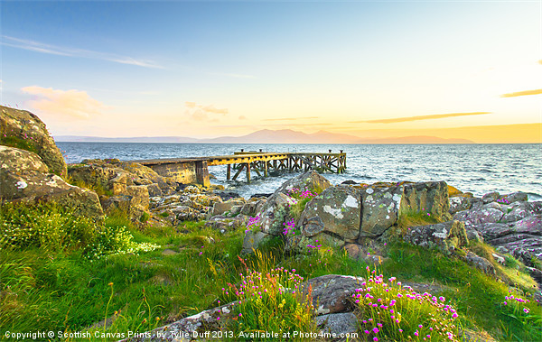 Portencross at Dusk Canvas print by Scotland In Pictures  by Tylie Duff