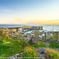 Buy canvas prints of Portencross at Dusk by Scotland In Pictures  by Tylie Duff