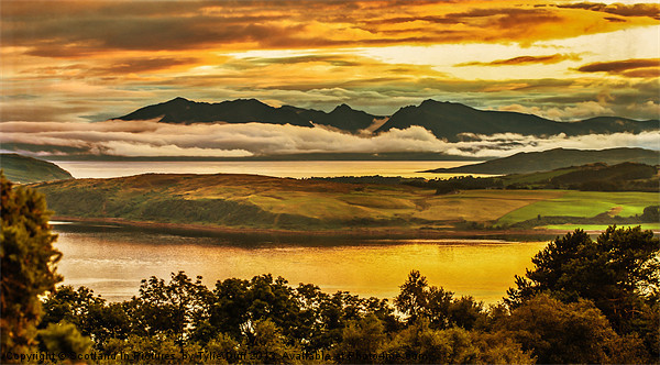 Sunset over Arran and The Cumbraes Canvas print by Scotland In Pictures  by Tylie Duff
