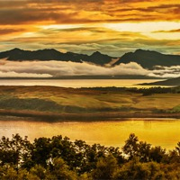 Buy canvas prints of Sunset over Arran and The Cumbraes by Scotland In Pictures  by Tylie Duff