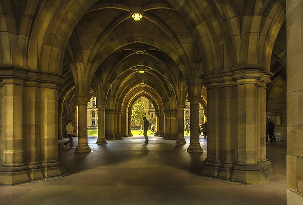 The Cloisters at Glasgow University Canvas print by Scotland In Pictures  by Tylie Duff