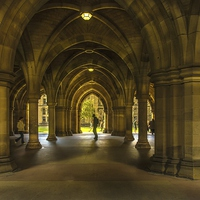 Buy canvas prints of The Cloisters at Glasgow University by Scotland In Pictures  by Tylie Duff