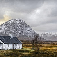 Buy canvas prints of  Black Rock Cottage Glencoe by Scotland In Pictures by Tylie Duff