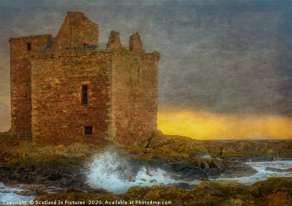 Sunset At Portencross Castle Canvas print by Scotland In Pictures