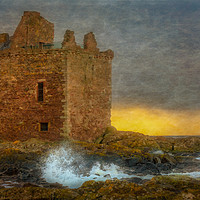 Buy canvas prints of Sunset At Portencross Castle by Scotland In Pictures