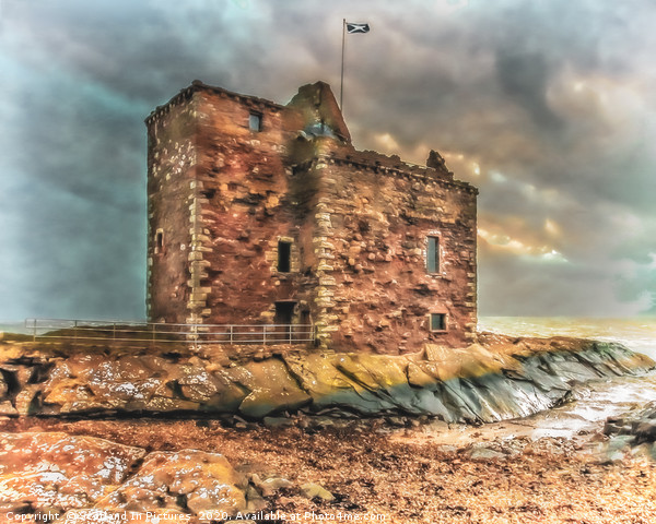 Portencross Castle Canvas print by Scotland In Pictures