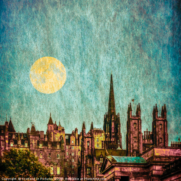 Moonlight Over Edinburgh Old Town Canvas print by Scotland In Pictures