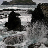 Buy canvas prints of Crashing Wave, Godrevy Lighthouse, St Ives Bay, Co by Brian Pierce