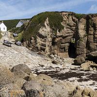 Buy canvas prints of  Porthgwarra Cove, Cornwall by Brian Pierce