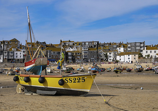St Ives Harbour, Cornwal Canvas print by Brian Pierce