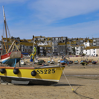 Buy canvas prints of  St Ives Harbour, Cornwal by Brian Pierce