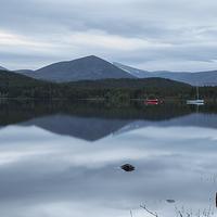 Buy canvas prints of  Dusk on Loch Morlich by Aaron Casey