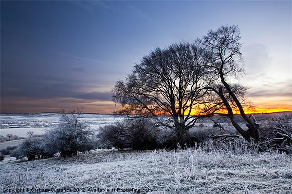 Winter Sunrise Framed Mounted Print by UK Landscape Canvas by Graham Custance