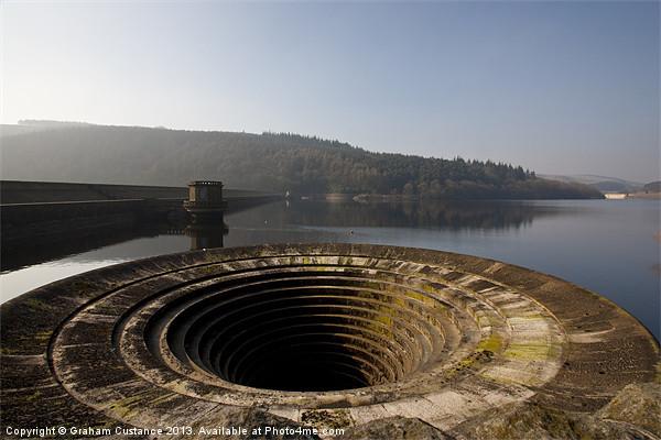 Ladybower reservoir Framed Mounted Print by UK Landscape Canvas by Graham Custance