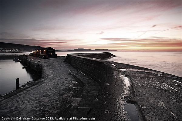 The Cobb, Lyme Regis, Dorset Canvas print by UK Landscape Canvas by Graham Custance
