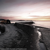 Buy canvas prints of The Cobb, Lyme Regis, Dorset by UK Landscape Canvas by Graham Custance