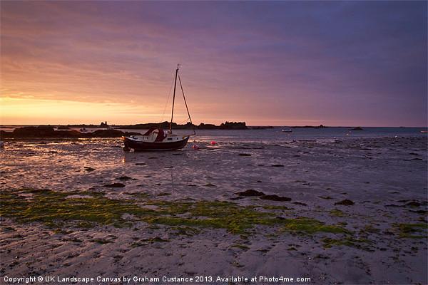 Jersey Sunrise Canvas print by UK Landscape Canvas by Graham Custance