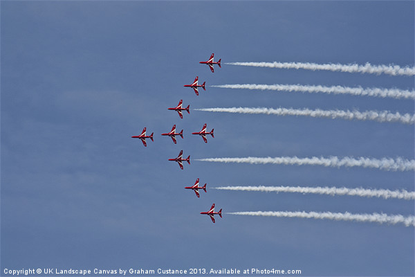 Red Arrows Canvas Print by UK Landscape Canvas by Graham Custance