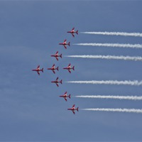Buy canvas prints of Red Arrows by UK Landscape Canvas by Graham Custance