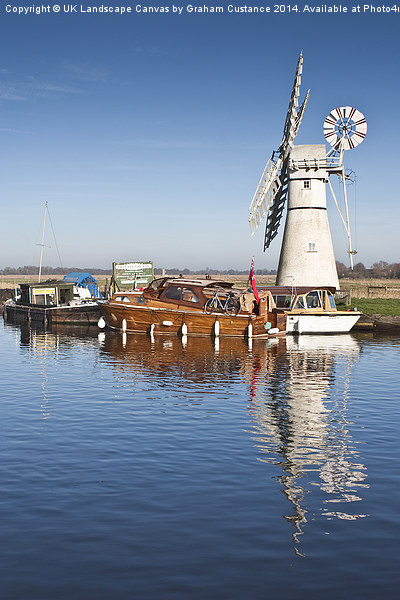 Thurne Mill Canvas print by UK Landscape Canvas by Graham Custance