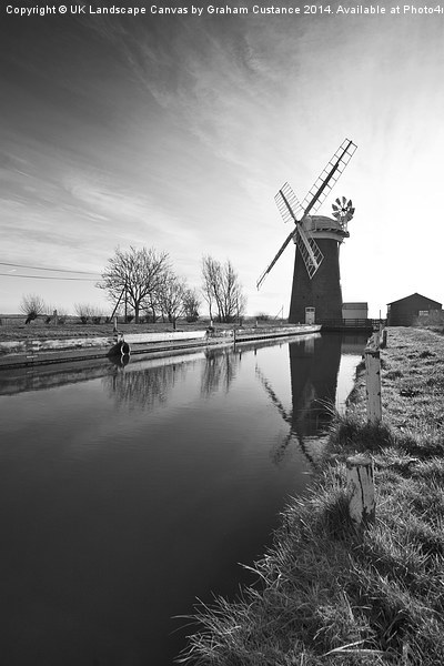 Horsey Mill, Norfolk Framed Mounted Print by UK Landscape Canvas by Graham Custance