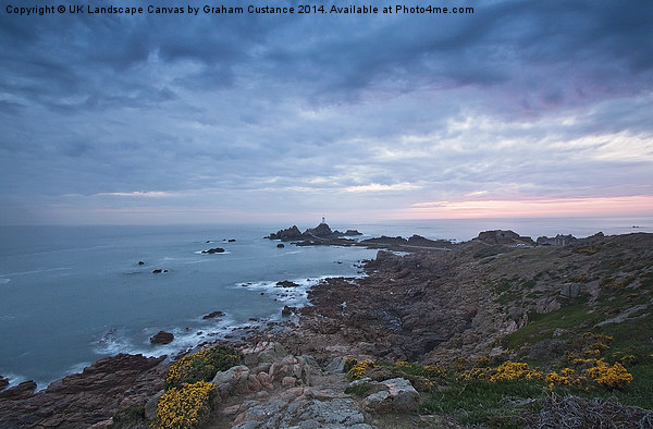 Corbiere Lighthouse Canvas print by UK Landscape Canvas by Graham Custance