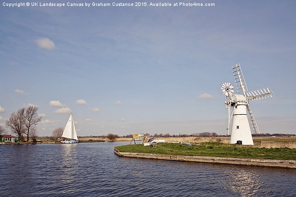 Thurne Mill, Norfolk Broads Canvas Print by UK Landscape Canvas by Graham Custance