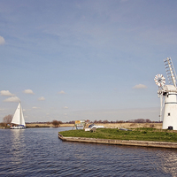 Buy canvas prints of  Thurne Mill, Norfolk Broads by UK Landscape Canvas by Graham Custance