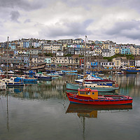 Buy canvas prints of Brixham Harbour by Graham Custance