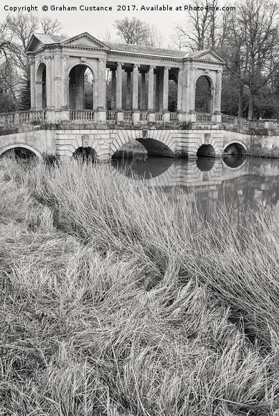Palladian Bridge, Stowe Framed Mounted Print by Graham Custance