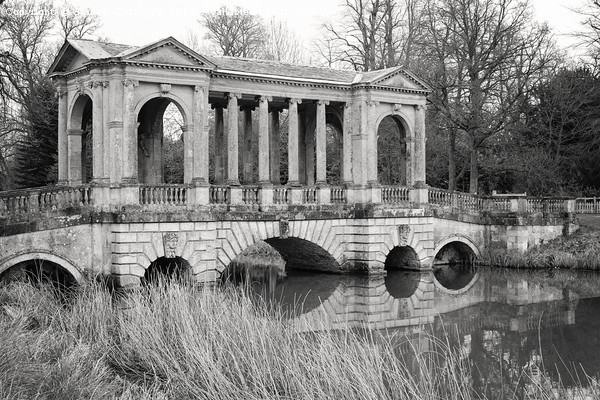 Palladian Bridge, Stowe Framed Mounted Print by Graham Custance