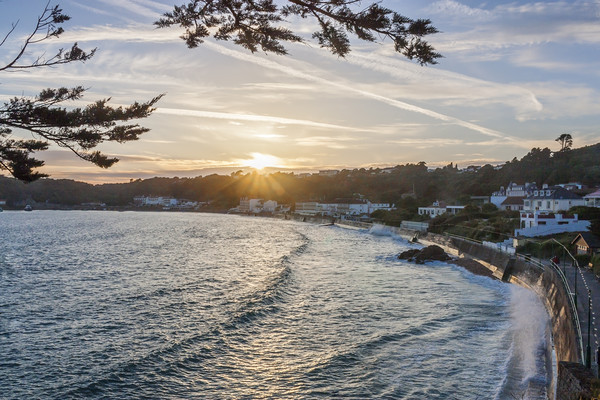 St Brelade's Bay, Jersey Canvas print by Graham Custance