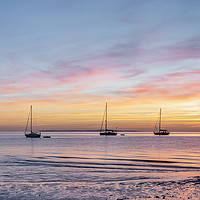 Buy canvas prints of Isle of Wight Sunset by Graham Custance