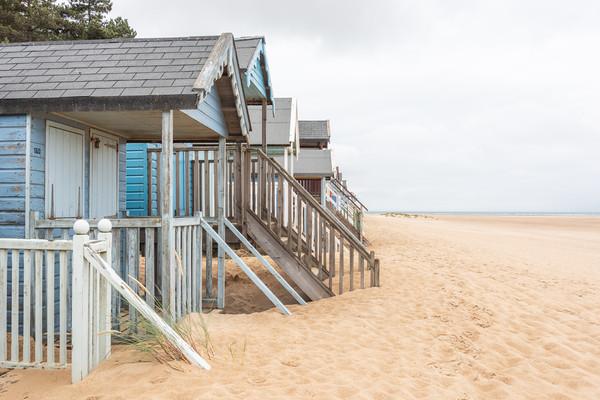 Wells-next-the-Sea beach huts Canvas Print by Graham Custance