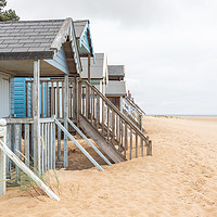 Buy canvas prints of Wells-next-the-Sea beach huts by Graham Custance