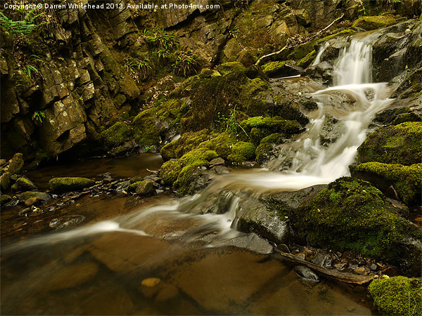 Waterfall in Spring 3 Canvas print by Darren Whitehead
