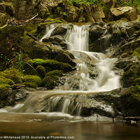 Buy canvas prints of Waterfall in Spring 4 by Darren Whitehead