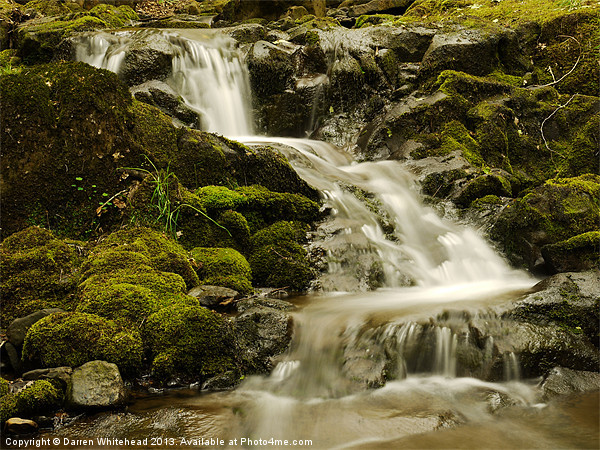 Waterfall in Spring 5 Canvas print by Darren Whitehead