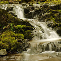 Buy canvas prints of Waterfall in Spring 5 by Darren Whitehead