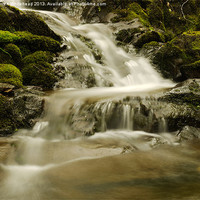Buy canvas prints of Waterfall in Spring 6 by Darren Whitehead
