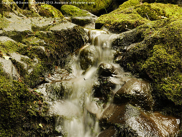 Waterfall in Spring 8 Canvas print by Darren Whitehead