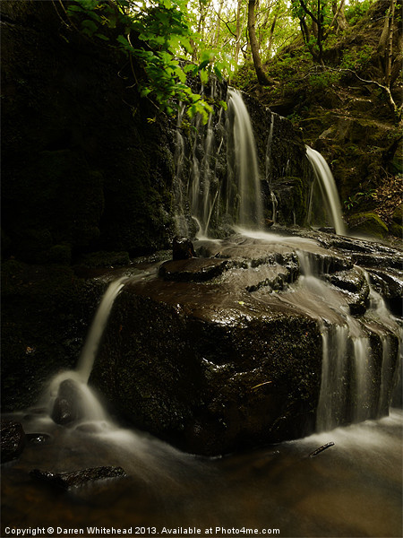 Waterfall in Spring 15 Canvas Print by Darren Whitehead