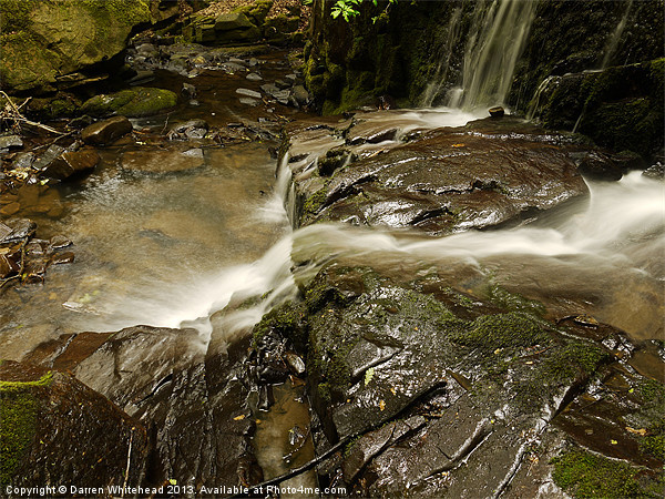Waterfall in Spring 18 Canvas print by Darren Whitehead