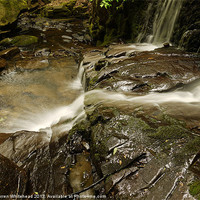 Buy canvas prints of Waterfall in Spring 18 by Darren Whitehead