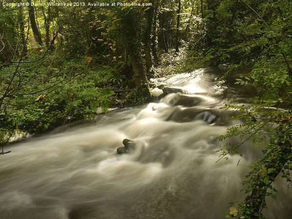 Silky River Canvas Print by Darren Whitehead