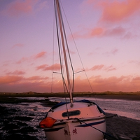 Buy canvas prints of Stranded at Dusk by Darren Whitehead