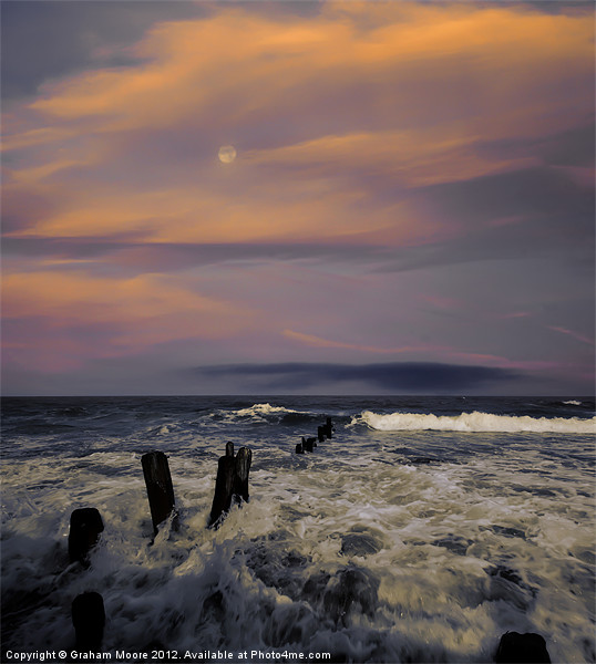 Evening Surf Canvas print by Graham Moore