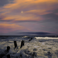 Buy canvas prints of Evening Surf by Graham Moore