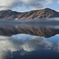 Buy canvas prints of Derwentwater panorama by Graham Moore
